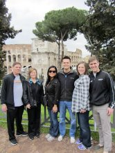 The best family in the world visiting the Colloseum